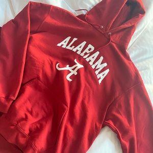 RED CHAMPION ALABAMA HOODIE SIZE XL